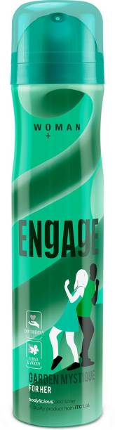 Engage Garden Mystique, Spicy and Woody, Skin Friendly Deodorant Spray  -  For Women