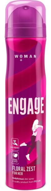 Engage Floral Zest, Citrus and Floral, Skin Friendly Deodorant Spray  -  For Women