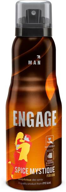Engage Spice Mystique, Woody and Leather, Skin Friendly Deodorant Spray  -  For Men