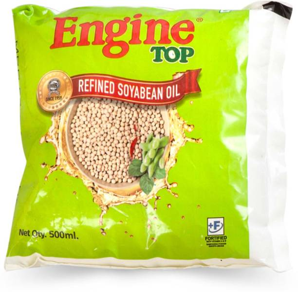 Engine Refined Soyabean Oil Sunflower Oil Pouch