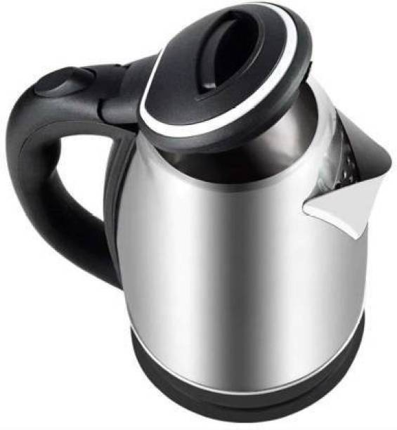 Infinity Creation 2002- Fast Boiling Tea Kettle Cordless, Stainless Steel Finish Hot Water Kettle – Tea Kettle, Tea Pot – Hot Water Heater Dispenser Beverage Maker (2 L, Silver, black) Electric Kettle