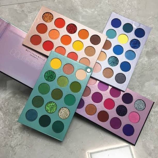 Huda Girl 60 Colors Professional Palette Eyeshadow Highly Pigmented, Shimmery, Glittery and Matte Colors Eyeshadow 360 g