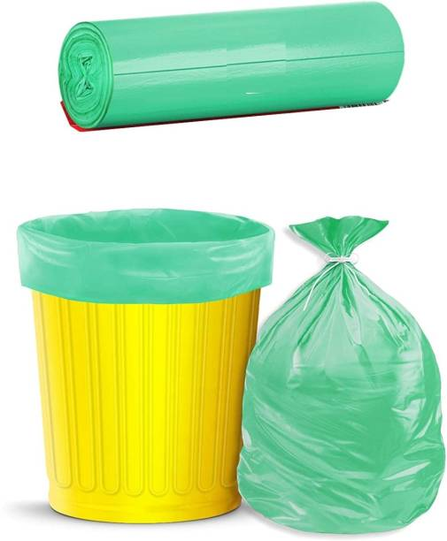 Runwet Premium - Biodegradable Garbage Bags| Disposable Garbage Trash Waste Dustbin Covers & Bags 3 Packs of 30pcs - 90Pcs Small 17 * 19 Inch(Green) Small 10 L Garbage Bag