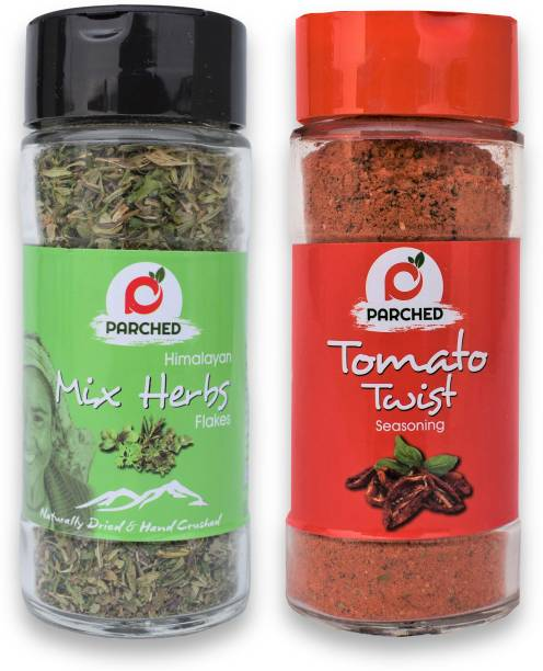 Parched Mixed Herbs and Tomato Twist Seasoning Combo (20G, 45G)  NO Preservatives  NO Chemicals   Himalayan Herbs