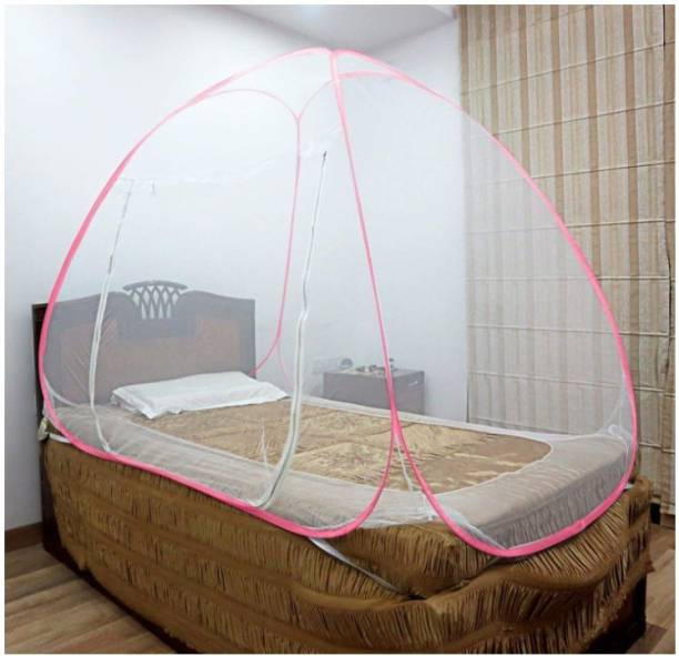 Dhuloom Polyester Adults foldable mosquito net for single bed Mosquito Net