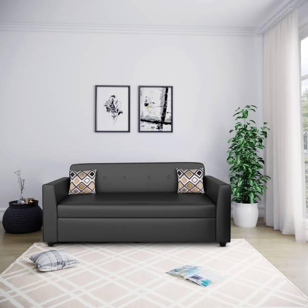 Bharat Lifestyle Stark Leatherette 3 Seater  Sofa