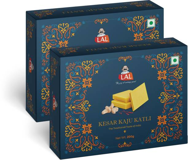 Lal Kesar Kaju Katli 200g Pack Of 2 Carton