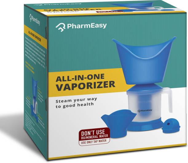 PharmEasy Essentials All in One (3 in 1) Steamer for Cold & Cough Vaporizer