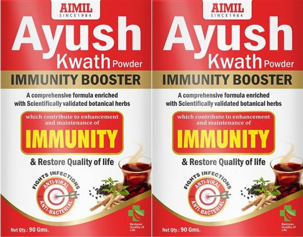 AIMIL Ayush Kwath Powder With Tulsi, Kali Mirch, Sunthi, Dalchini | Immunity Booster