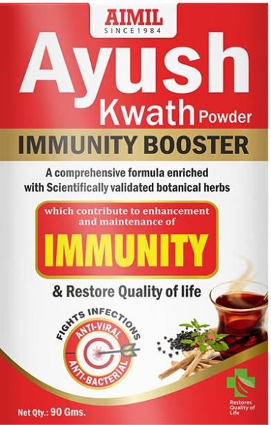 AIMIL Ayush Kwath Powder With Tulsi, Kali Mirch, Sunthi, Dalchini | Immunity Booster (Pack of 1)