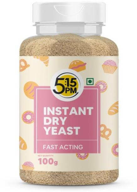 5:15PM Instant Active Dry Yeast Powder – Fast Acting for Baking, Breads, Pizzas– 100g Yeast Powder