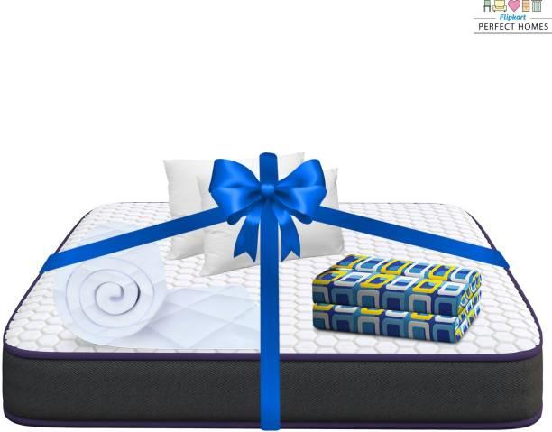 Flipkart Perfect Homes Sleep Box with Sleep Accessories 4 inch King PU Foam Mattress