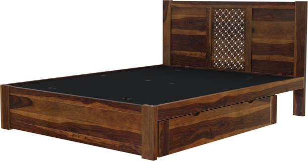 Induscraft Solid Wood Queen Drawer Bed