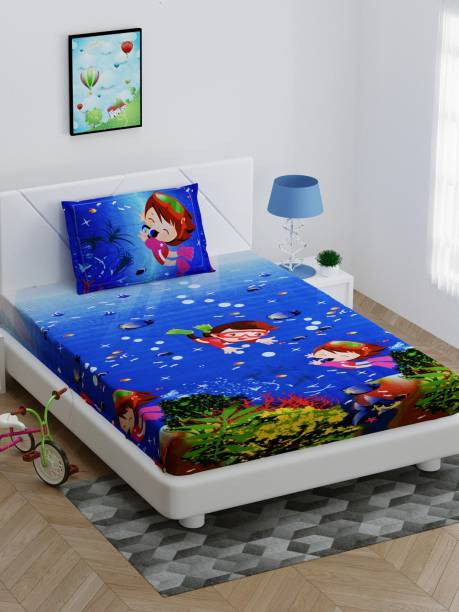 Bombay Dyeing 150 TC Cotton Single Cartoon Bedsheet
