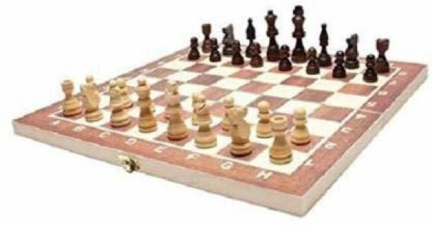 """wesgopan 13""""X13"""" Wooden Foldable Chess Set, Chess Game For Kids Adults 4cm Chess Board 4 cm Chess Board"""