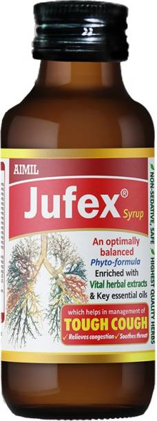 AIMIL Jufex Forte Syrup Herbal Syrup for Respiratory Wellness (Pack of 1)