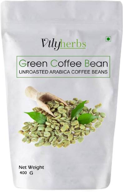 Vtlyherbs Organic Unroasted Green Coffee beans for Fat Loss /Weight Loss Management Instant Coffee