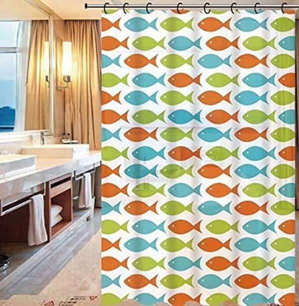 JEBY 180 cm (6 ft) PVC Shower Curtain Single Curtain