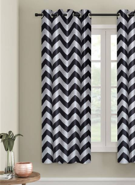 Home Sizzler 153 cm (5 ft) Polyester Window Curtain Single Curtain