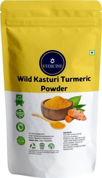 VEDICINE 100% Pure Wild Amba Haldi Kasturi Turmeric Manjal Powder for Face and Skin Care