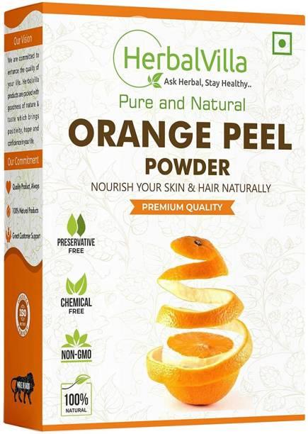 herbalvilla Orange Peel Powder For Face Skin Whitening