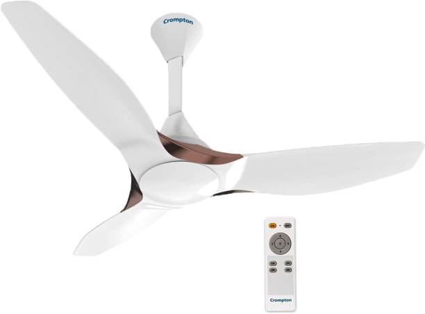CROMPTON SILENT PRO ENSO MIST WHITE 1200 mm BLDC Motor with Remote 3 Blade Ceiling Fan