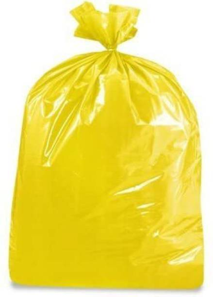 Runwet Premium - Biodegradable Garbage Bags| Disposable Garbage Trash Waste Dustbin Covers & Bags 3 Packs of 30pcs - 90 Pcs Small 17 * 19 Inch(Yellow) Small 10 L Garbage Bag