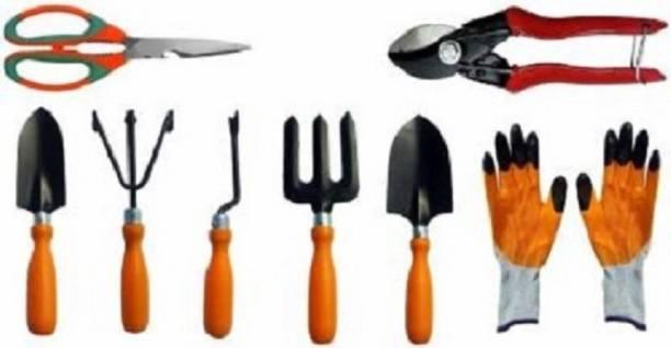 Flipkart SmartBuy Trowel Set of 5, Double Cut Pruner, Garden Scissor and Gardening Gloves Combo Garden Tool Kit