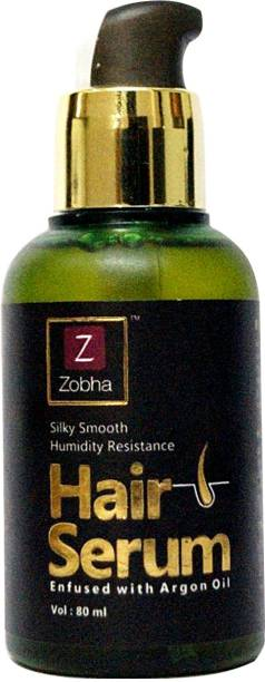 Zobha Hair Serum for Women & Men | Contains Pure Argan Oil | Instant Shine & Smoothness | Regular use Hair Serum for Dry & Wet Hair | Nourishing and Repairing Damage Hair | Soft & Silky Touch