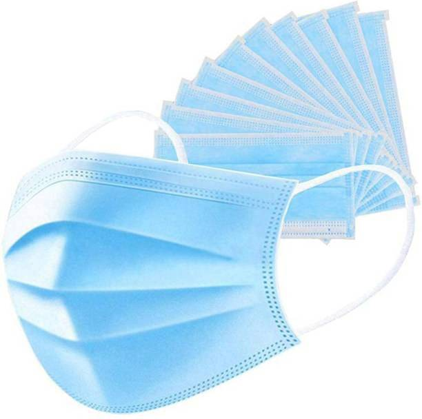 LYRISS 150 Units Disposable 3 Ply Pharmaceutical Breathable Pollution Face Mask Respirator with 3 Layer Surgical For Men Women Kids 3 Ply Surgical Mask (150 Piece) Surgical Mask (Blue, Free Size, Pack of 150, 3 Ply) 3-PLY-150 Surgical Mask