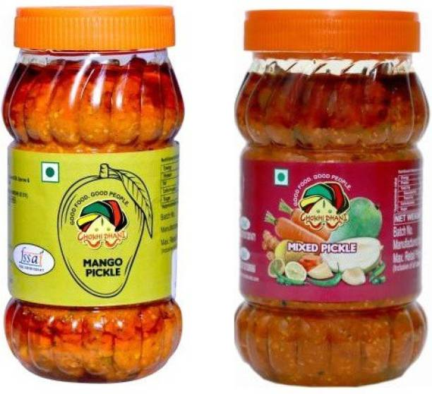 Chokhi Dhani Foods Mango pickle 1 kg - Mix pickle 1 kg Mango, Mixed Pickle