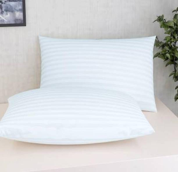 jy Microfibre Stripes Sleeping Pillow Pack of 2