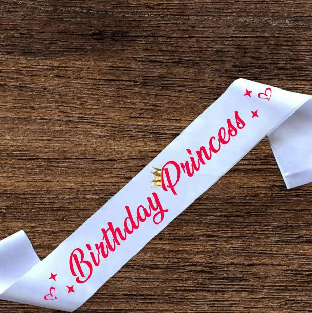 "Style Secrets 3"" Birthday Princess Sash for Baby Girls, Girls and Ladies for Birthday"