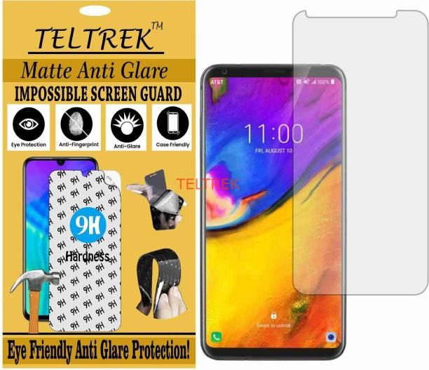 TELTREK Tempered Glass Guard for LG V35 PLUS THINQ (Matte Flexible Shatterproof)