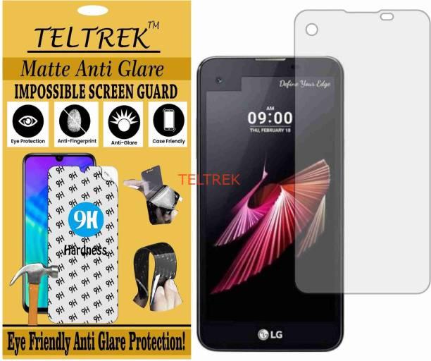 TELTREK Tempered Glass Guard for LG X SCREEN K500I (Matte Flexible Shatterproof)