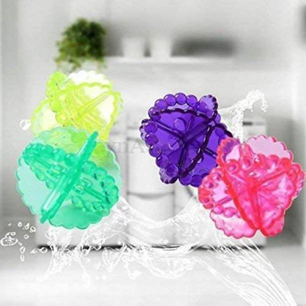 TruVeli Laundry Ball Washing Machine Washer Dry Durable Cloth Cleaning, 4 Piece (Multicolor) Detergent Bar