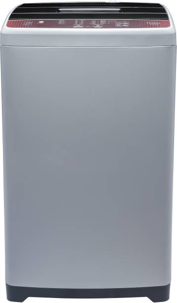 Haier 7 kg 5 star Ariel Wash Fully Automatic Top Load Brown, Grey