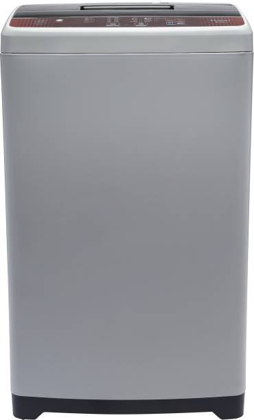 Haier 6.5 kg 5 star Ariel Wash Fully Automatic Top Load Brown, Grey