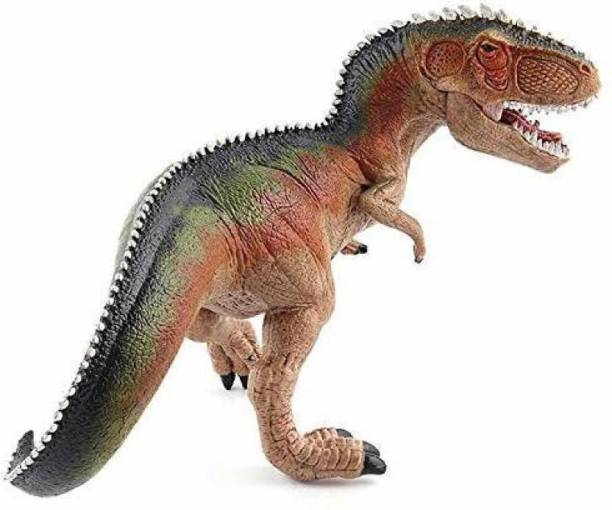 WONDER CREATURES 24 cm Tyrannosaurus T Rex Big Dinosaur Animal Toy Realistic Action Figures Birthday Party and Education and Learning for Boys and Girls (Multicolor)