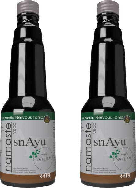 Namaste Veda Snayu Nervous Brain Support Syrup   Brain Care  Depression Nerve Care  100% Pure and Natural