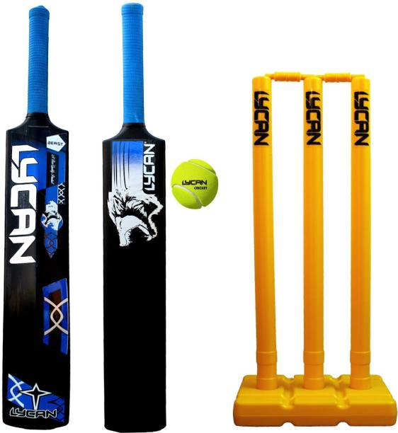 LYCAN Beast Full Size Strong Plastic Bat Bat Size suitable for age 15 year to 30 year PVC/Plastic Cricket  Bat