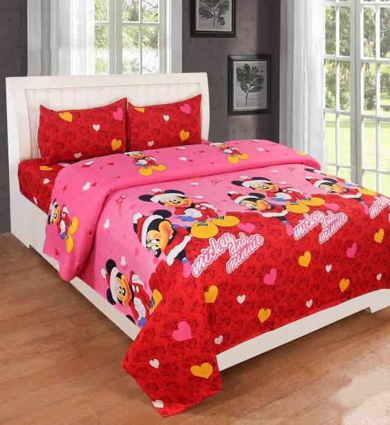RisingStar 160 TC Cotton Double Cartoon Bedsheet