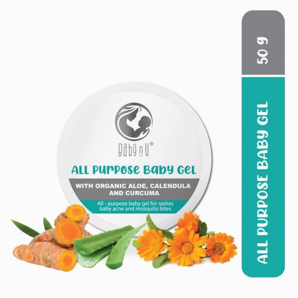 BabynU All Purpose Natural Baby Gel with Organic Aloe, Calendula and Curcuma |ph 5.5 Balanced (50 gms)