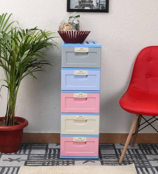 The Tickle Toe T3-HX0002563-P Synthetic Fiber Free Standing Chest of Drawers