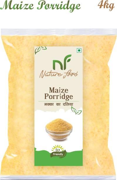 Nature food Good Quality Maize Porridge / Makka Daliya (Corn ) - 4KG Pack