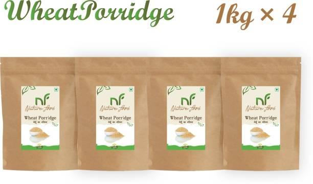 Nature food Good Quality Wheat Porridge /Gehun Daliya - 4kg (1kgx4)