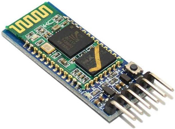 Robotly HC-05 6 Pin Wireless RF Transceiver Master Slave Integrated Module Serial Port Communication BT Module Compatible with Arduino UNO R3 Nano Pro Mini MEGA Electronic Components Electronic Hobby Kit