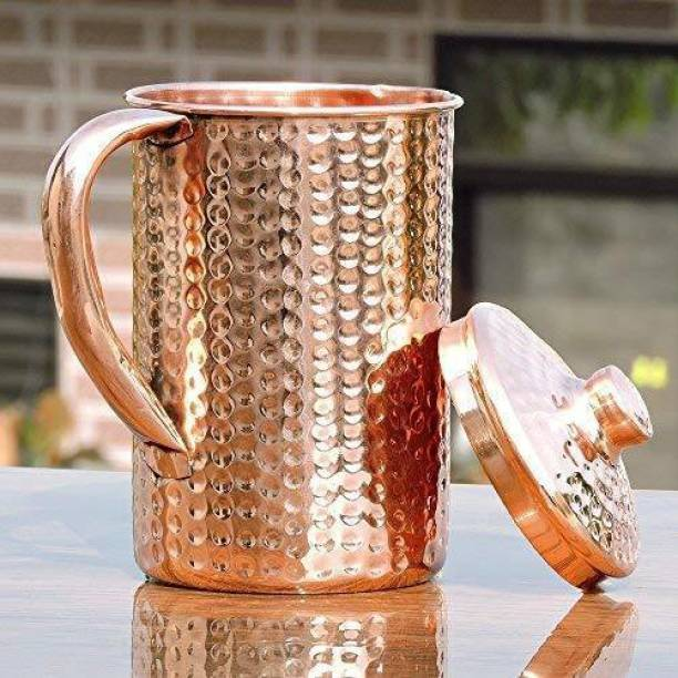 EVERGROW 1.5 L Water Pure Copper Water Hammered Jug Jug