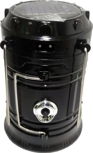 BERRIN LED Solar Emergency Light Lantern, USB Mobile Charging 2 Power Source Solar, Lithium Battery Multicolor Metal Table Lantern