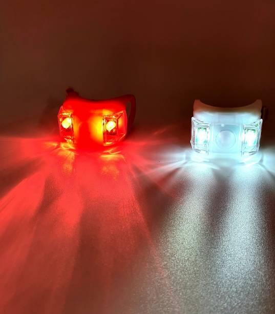 AutoPowerz Flashing 3 mode bicycle led light Red & White LED Spot Light